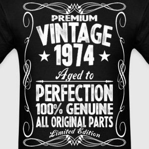 Premium Vintage 1974 Aged To Perfection 100% Genui T-Shirts - Men's T-Shirt