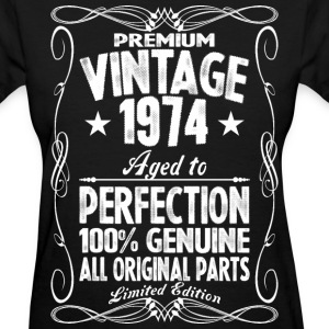 Premium Vintage 1974 Aged To Perfection 100% Genui T-Shirts - Women's T-Shirt