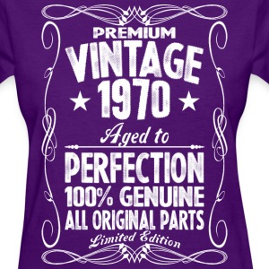 Premium Vintage 1970 Aged To Perfection 100% Genui T-Shirts - Women's T-Shirt