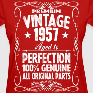 Premium Vintage 1957 Aged To Perfection 100% Genui T-Shirts - Women's T-Shirt