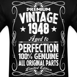 Premium Vintage 1948 Aged To Perfection 100% Genui T-Shirts - Men's T-Shirt