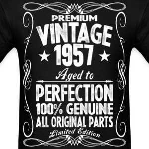 Premium Vintage 1957 Aged To Perfection 100% Genui T-Shirts - Men's T-Shirt