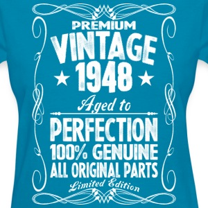 Premium Vintage 1948 Aged To Perfection 100% Genui T-Shirts - Women's T-Shirt