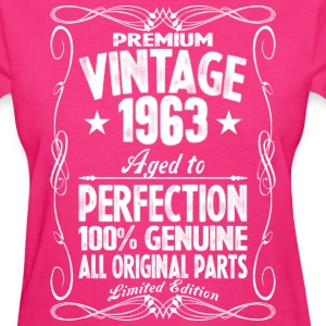 Premium Vintage 1963 Aged To Perfection 100% Genui T-Shirts - Women's T-Shirt