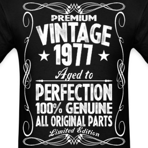 Premium Vintage 1977 Aged To Perfection 100% Genui T-Shirts - Men's T-Shirt