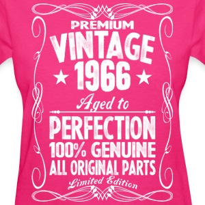 Premium Vintage 1966 Aged To Perfection 100% Genui T-Shirts - Women's T-Shirt