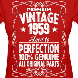 Premium Vintage 1959 Aged To Perfection 100% Genui T-Shirts - Women's T-Shirt