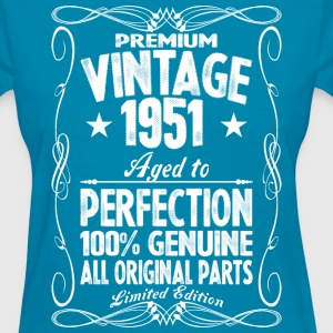 Premium Vintage 1951 Aged To Perfection 100% Genui T-Shirts - Women's T-Shirt