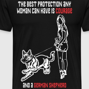 Courage and a German Shepherd T-Shirts - Men's Premium T-Shirt