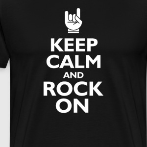keep calm and rock on T-Shirts - Men's Premium T-Shirt