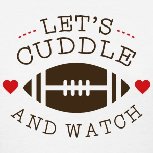 Cuddle And Football - Women's T-Shirt