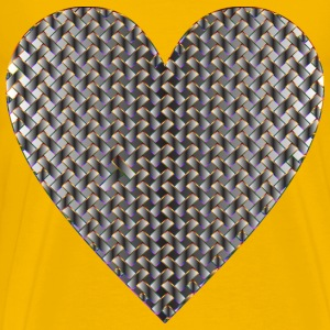 Colorful Heart Lattice Weave 11 - Men's Premium T-Shirt