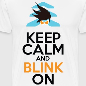 Keep Calm and Blink On - Men's Premium T-Shirt