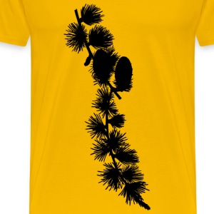 European larch 2 (silhouette) - Men's Premium T-Shirt