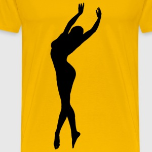 Dancing Woman Silhouette - Men's Premium T-Shirt