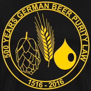 500 Years German Beer Purity Law - Men's Premium T-Shirt