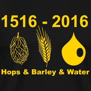 Beer - Hops Barley Water - Men's Premium T-Shirt