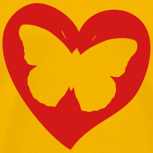 butterfly on heart - Men's Premium T-Shirt