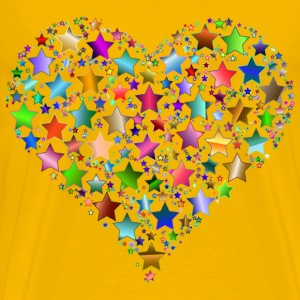 Colorful Heart Stars 9 Variation 2 No Background - Men's Premium T-Shirt