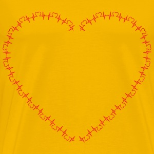 Heart Shaped EKG Rhythm - Men's Premium T-Shirt