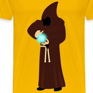 Monk projecting energy - Men's Premium T-Shirt