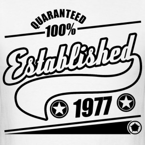 established  1977a.png T-Shirts - Men's T-Shirt