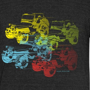 COLOR  ADVENTURE  DESIGN - Unisex Tri-Blend T-Shirt by American Apparel