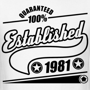 established 1981a.png T-Shirts - Men's T-Shirt