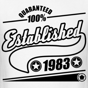 established  1983a.png T-Shirts - Men's T-Shirt