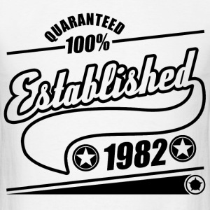 established  1982a.png T-Shirts - Men's T-Shirt