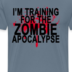 training_for_the_zombie_apocalypse_ - Men's Premium T-Shirt