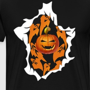Halloween Pumpkin Burst - Men's Premium T-Shirt