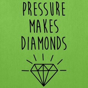 Pressure Makes Diamonds Quote Bags & backpacks - Tote Bag
