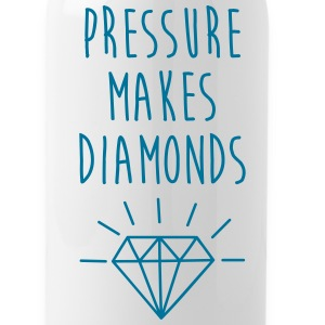Pressure Makes Diamonds Quote Sportswear - Water Bottle
