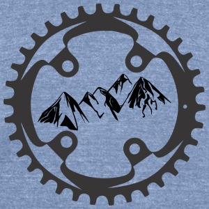 Alpine Bike T-Shirt - Unisex Tri-Blend T-Shirt by American Apparel