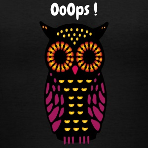 Owl ooops - Women's V-Neck T-Shirt