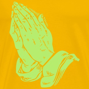 Praying hands - Men's Premium T-Shirt