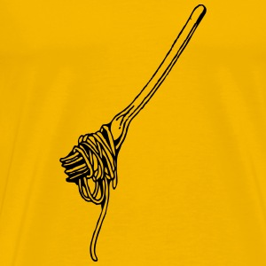 fork with spaghetti - Men's Premium T-Shirt