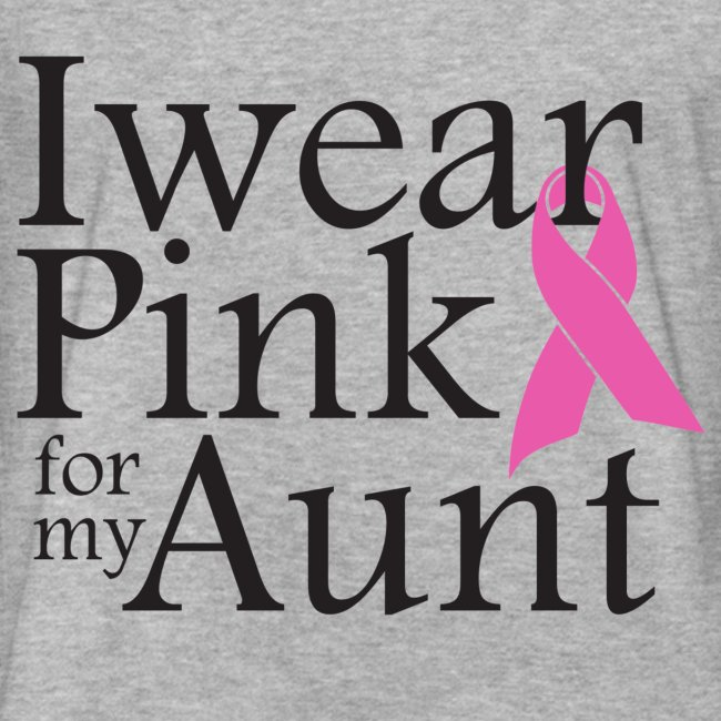 I Wear Pink for my Aunt - Grey Men
