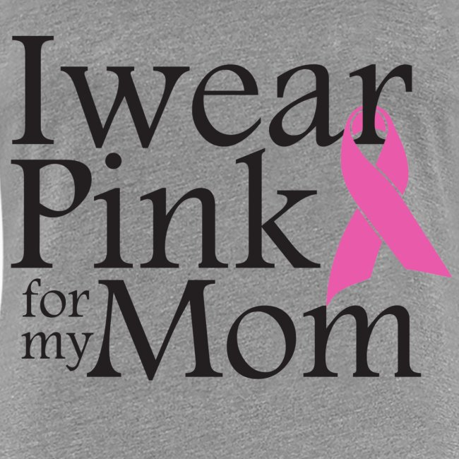 I Wear Pink for my Mom -Grey Women