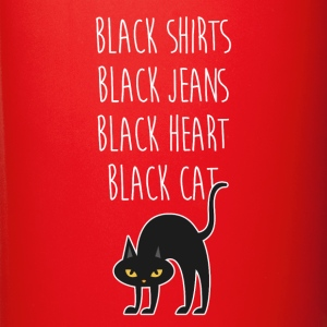 Black heart Black cat Halloween T-shirt Mugs & Drinkware - Full Color Mug