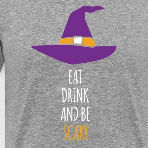 Eat Drink and be Scary Halloween T-shirt T-Shirts - Men's Premium T-Shirt