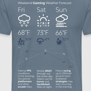 Weekend Gaming Weather Forecast - Men's Premium T-Shirt