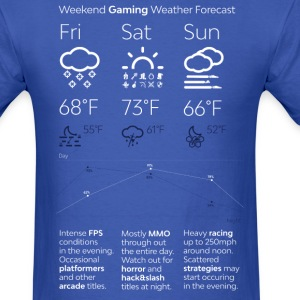 Weekend Gaming Weather Forecast - Men's T-Shirt