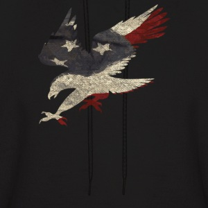 Old Glory American Flag Eagle - Men's Hoodie