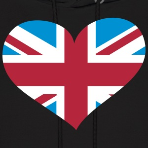United Kingdom Heart; Love United Kingdom Hoodies - Men's Hoodie