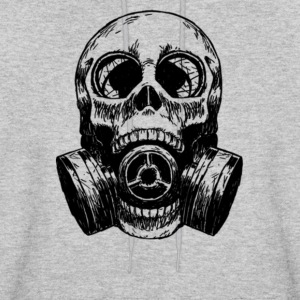 Skull Mask gas mask white - Men's Hoodie