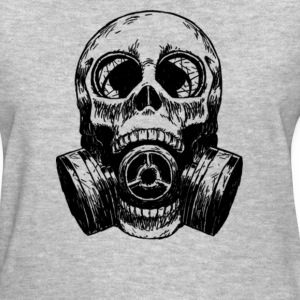 Skull Mask gas mask white - Women's T-Shirt