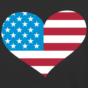 USA  Heart; Love USA T-Shirts - Baseball T-Shirt