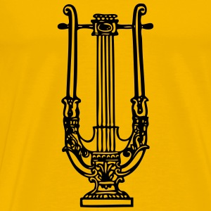 decorative lyre - Men's Premium T-Shirt